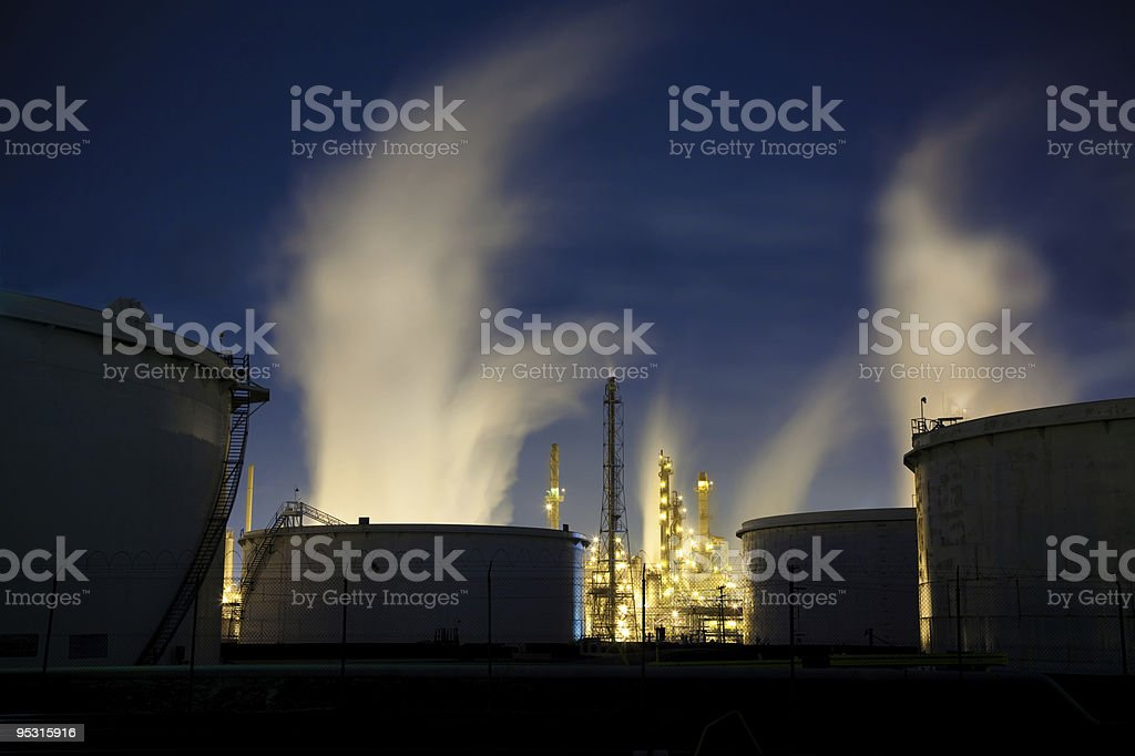 Storage Tanks and  Refinery royalty-free stock photo