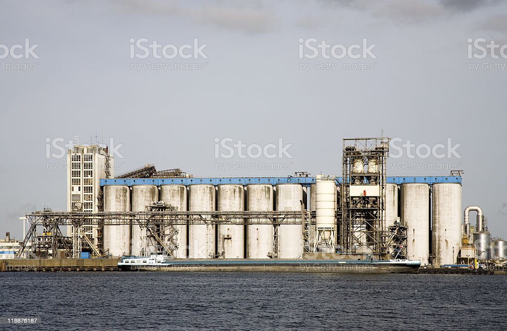 Storage tanks royalty-free stock photo