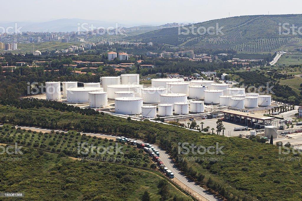 Storage tanks royalty-free stock photo