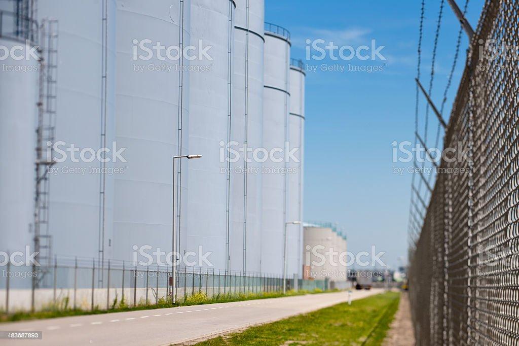 storage tanks stock photo
