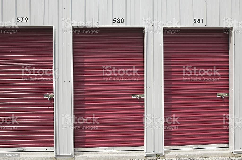 storage unit doors stock photo