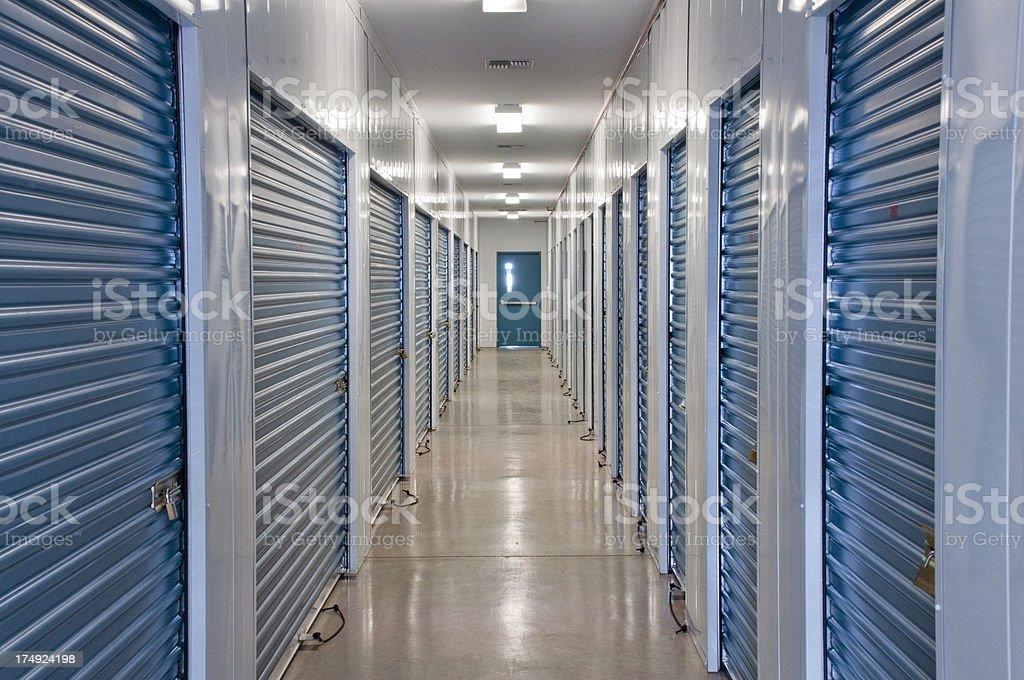 Storage units stock photo