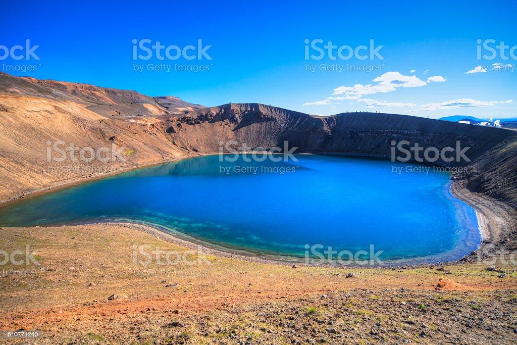 Stora-Viti Crater, Krafla, Iceland stock photo
