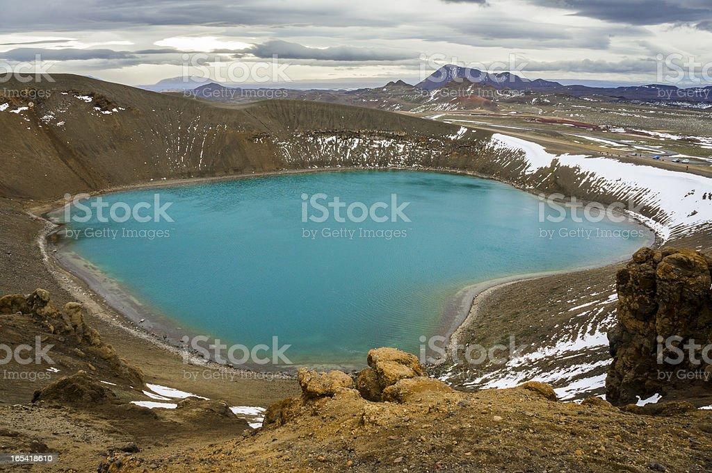 stora-viti, krafla, iceland stock photo