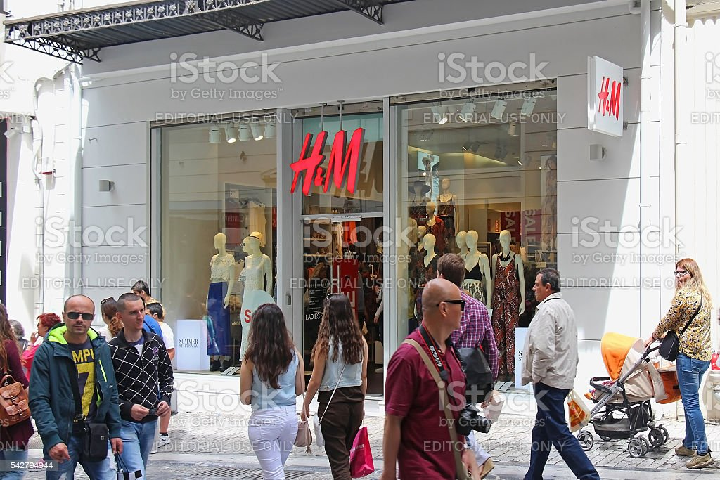HM store Athens stock photo