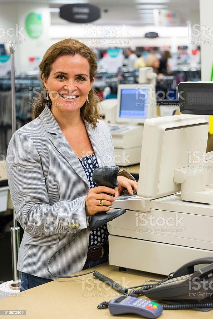 Store Cashier stock photo