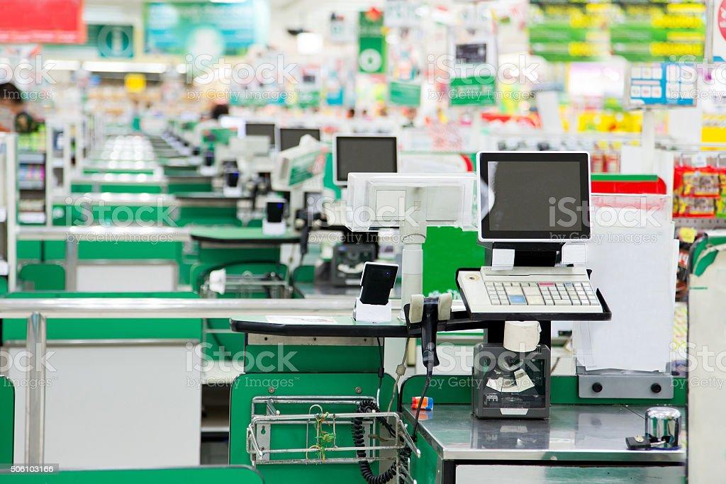 store checkout stock photo