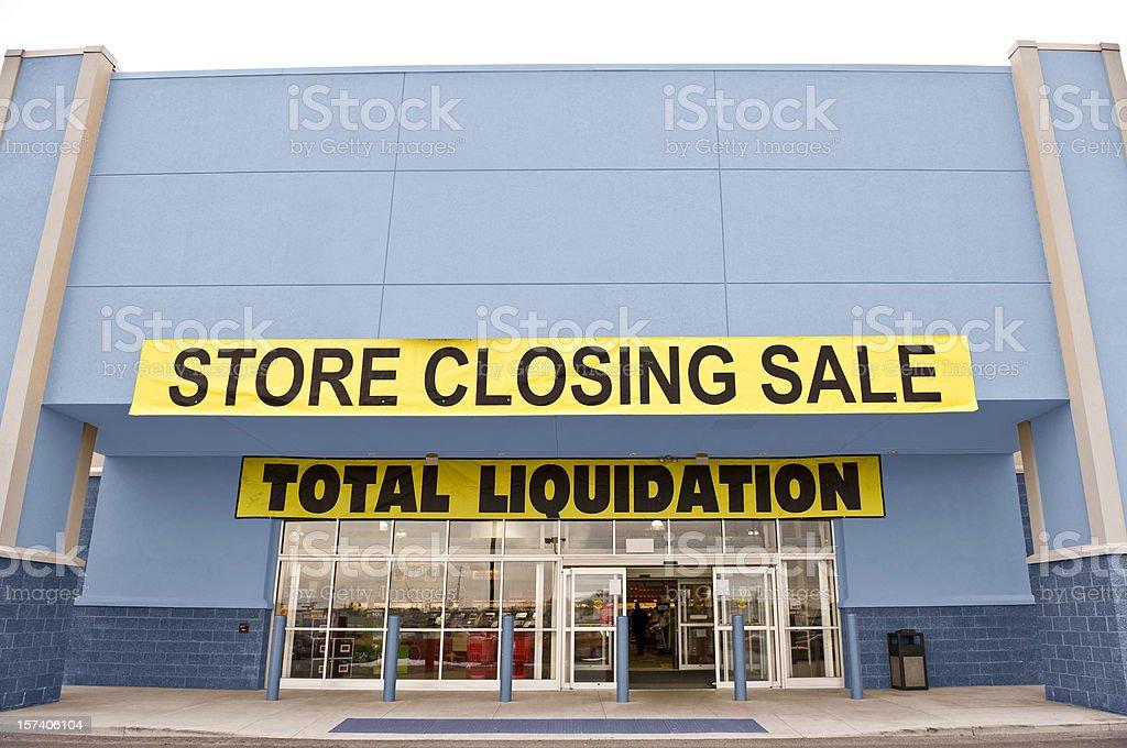 Store Closing royalty-free stock photo