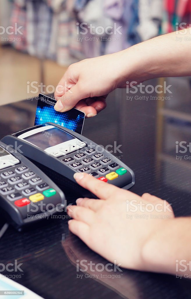 Store credit card stock photo