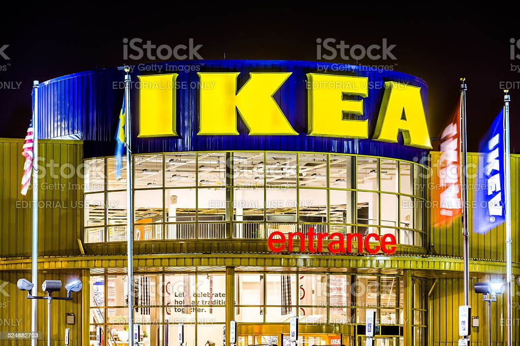IKEA store entrance stock photo