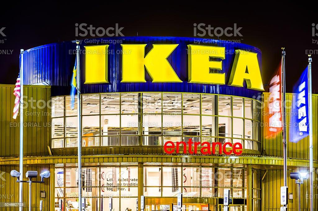 IKEA store entrance stock photo