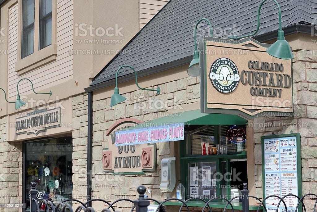 Store Facades, Manitou Springs royalty-free stock photo
