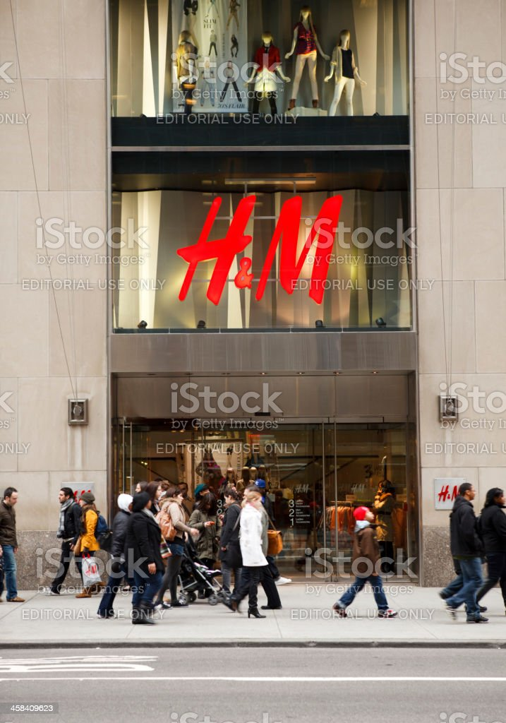 H&M Store Fifth Avenue New York City stock photo