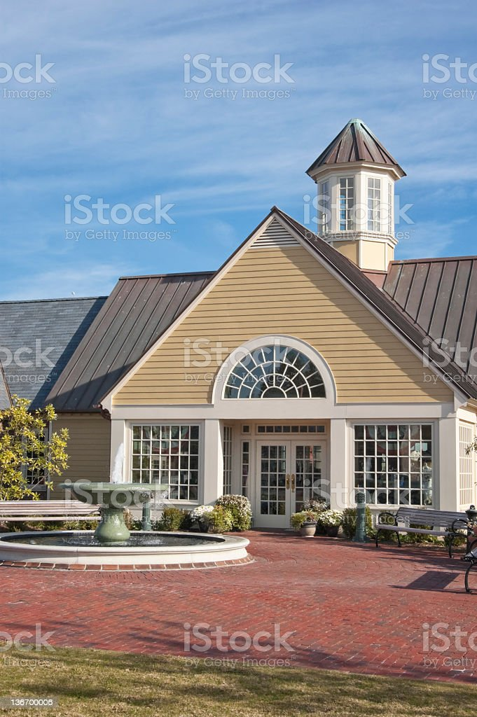 Store Front in American Strip Mall royalty-free stock photo