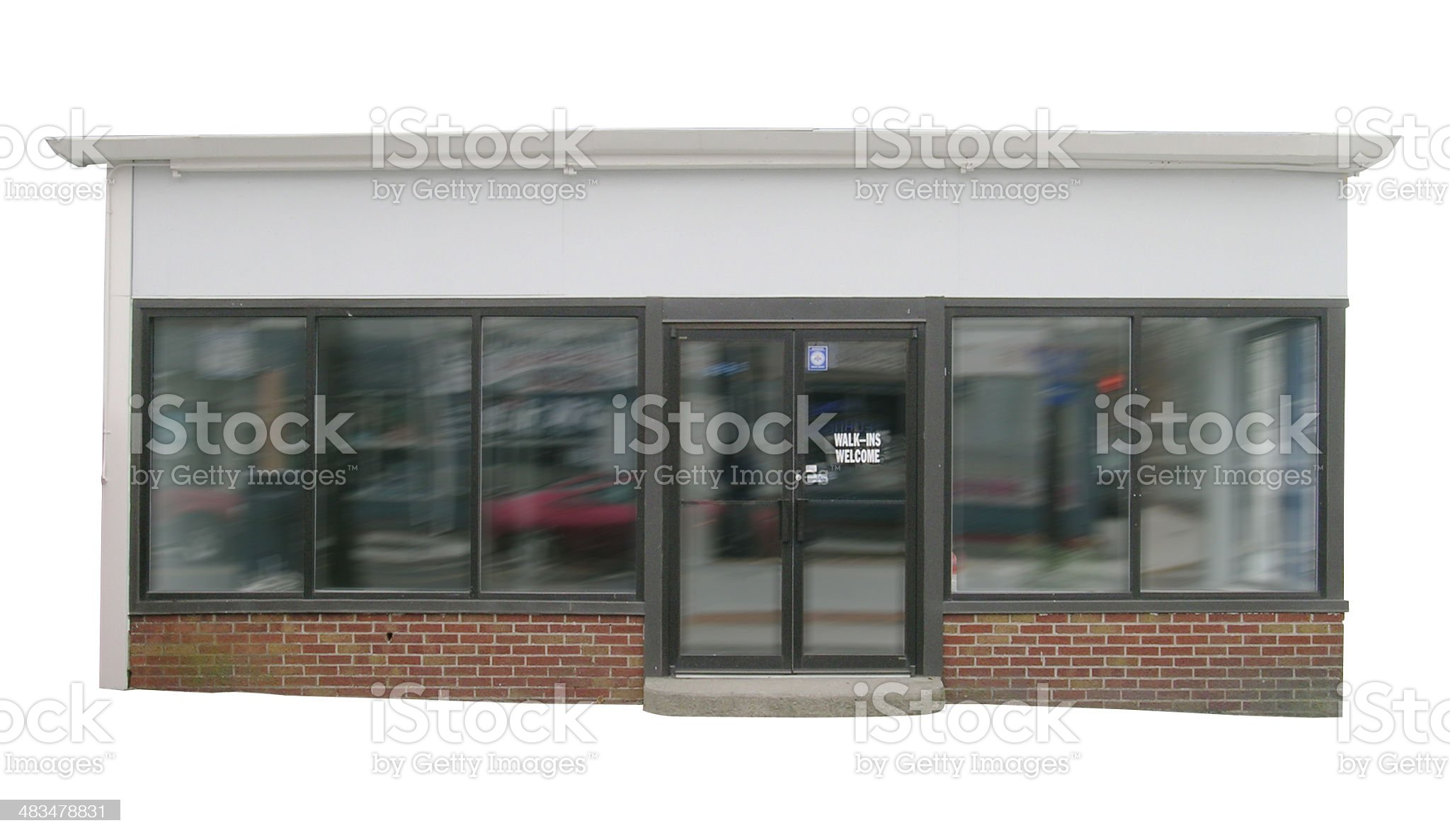 Store front with clipping path royalty-free stock photo