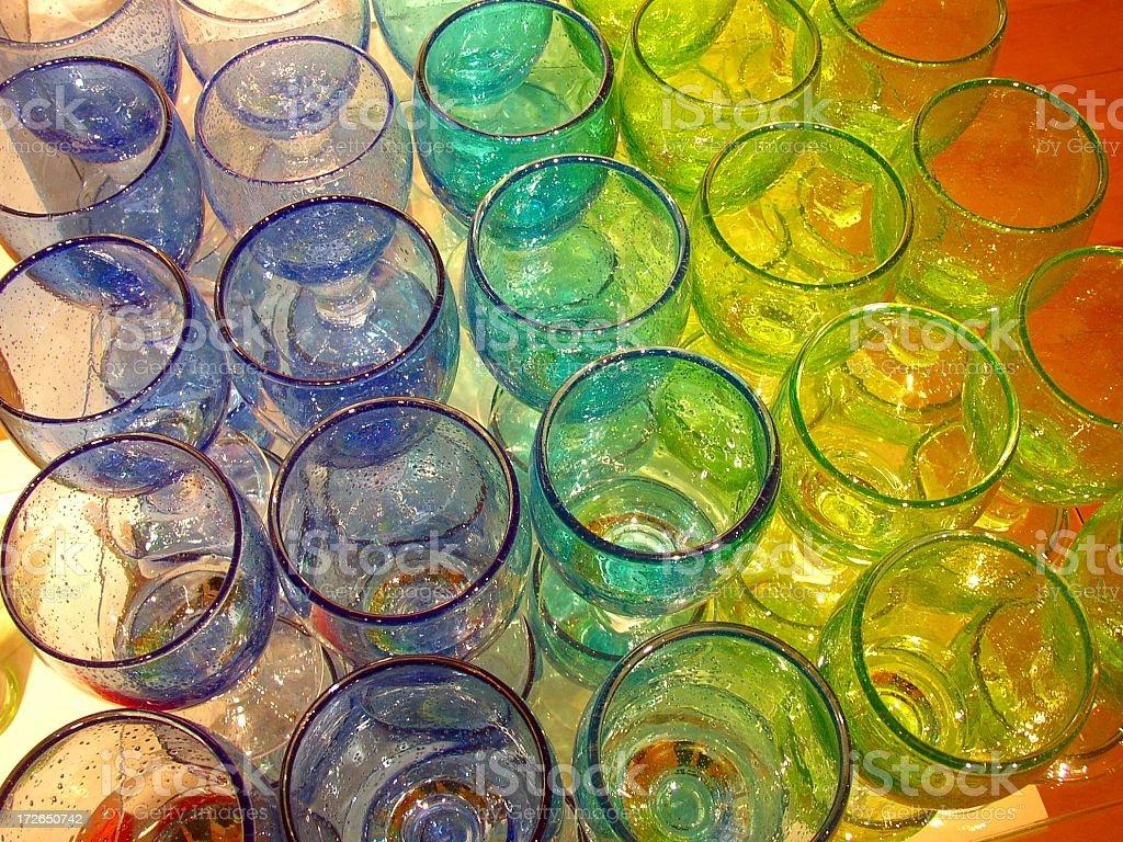 Store Glass Display stock photo