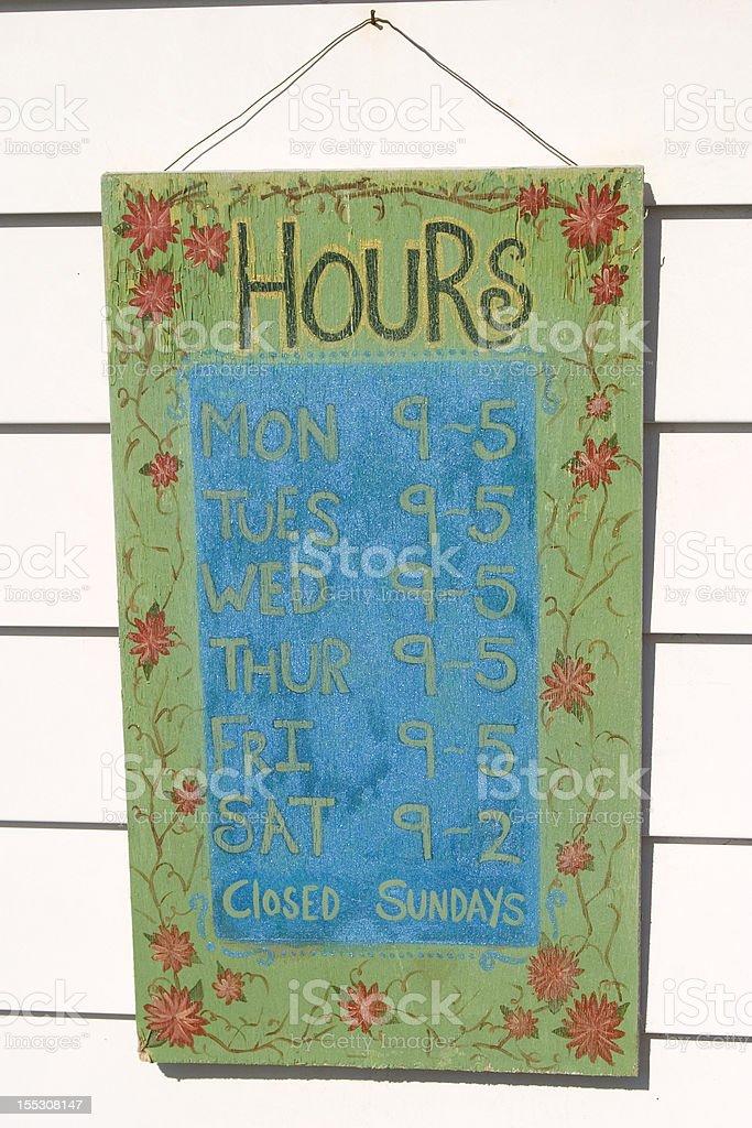 Store Hours Closed Sundays royalty-free stock photo