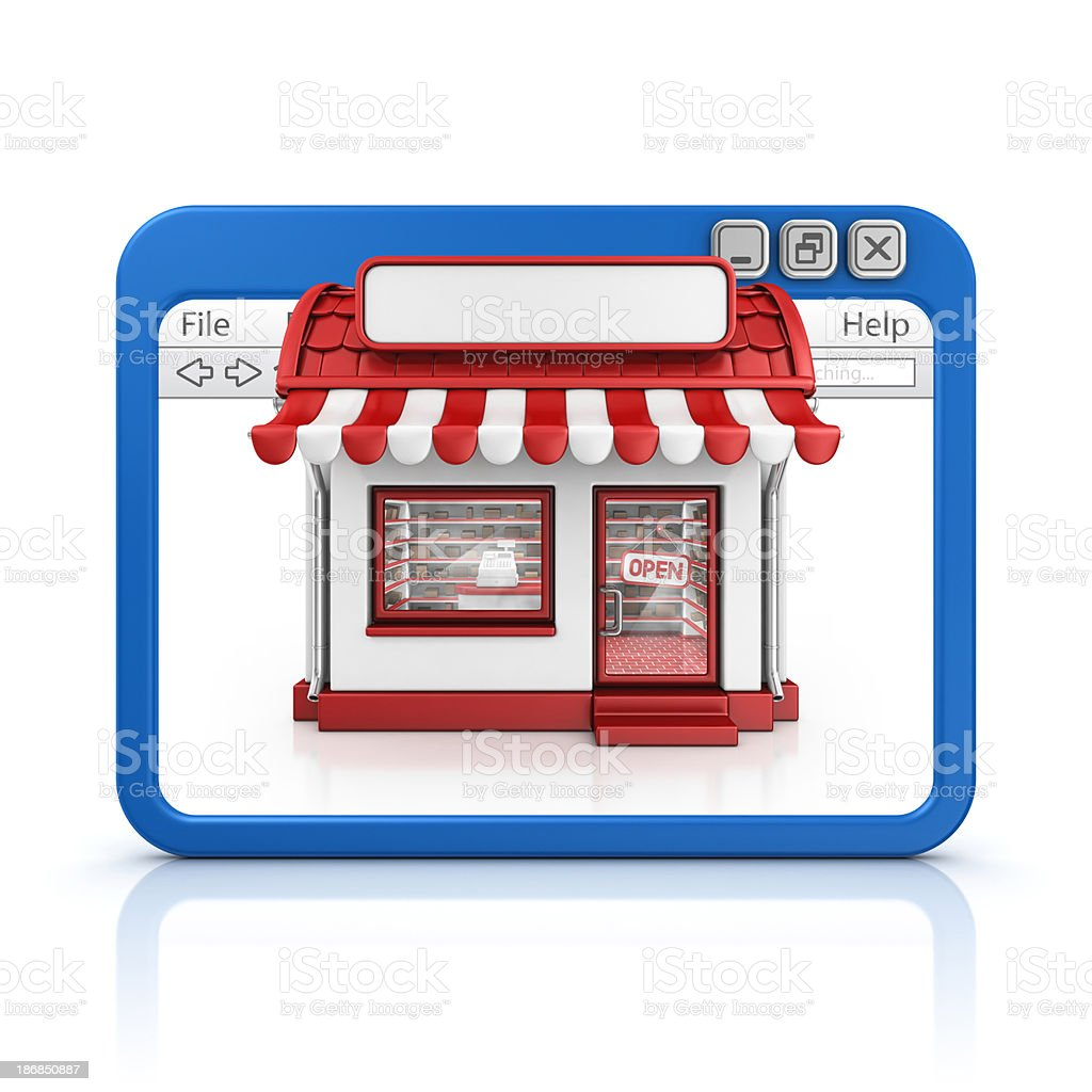 store in browser royalty-free stock photo