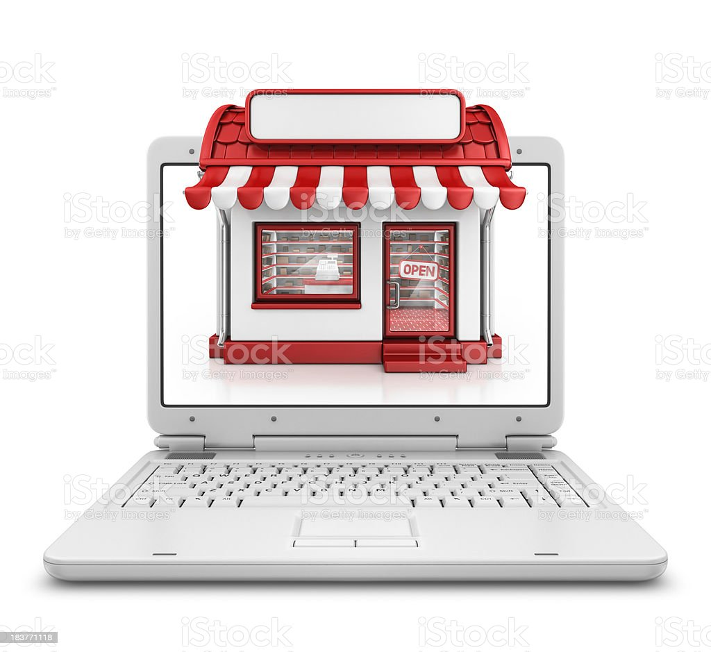 store in laptop royalty-free stock photo