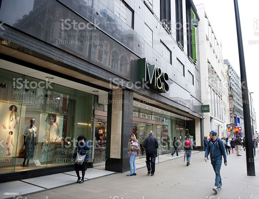 M&S store in London stock photo