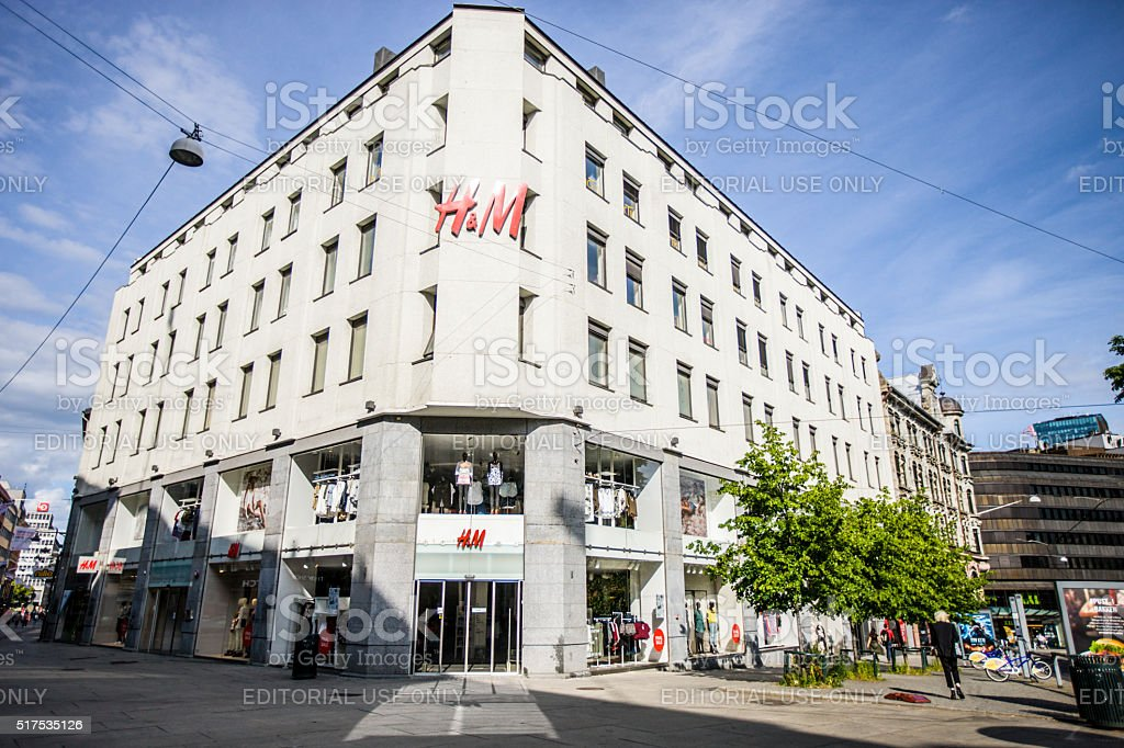 H&M Store in Oslo, Norway stock photo
