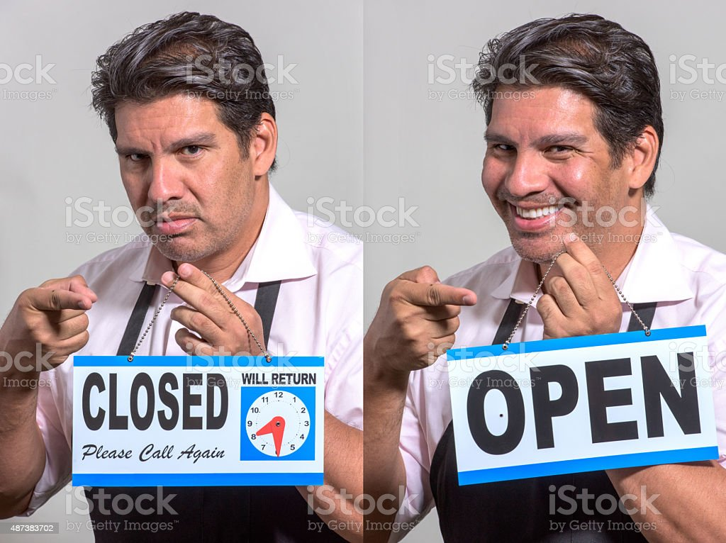 Store manager stock photo