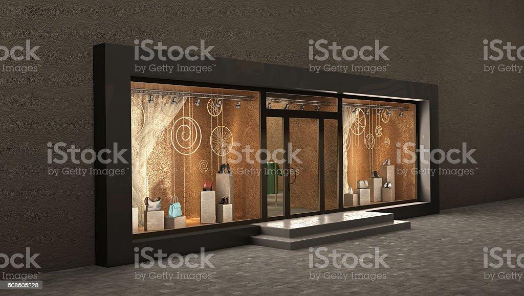 store night exterior, stock photo