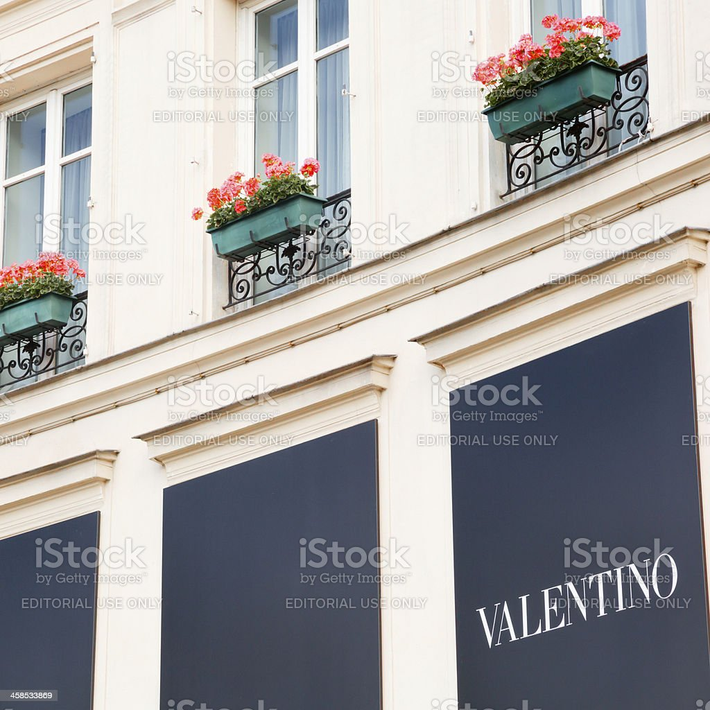 Store of Valentino in Paris royalty-free stock photo