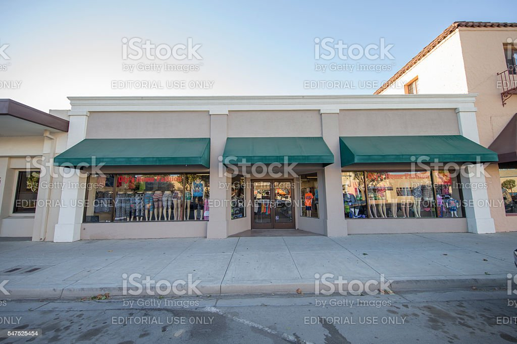 Store on the Broadyway of  King City, California stock photo