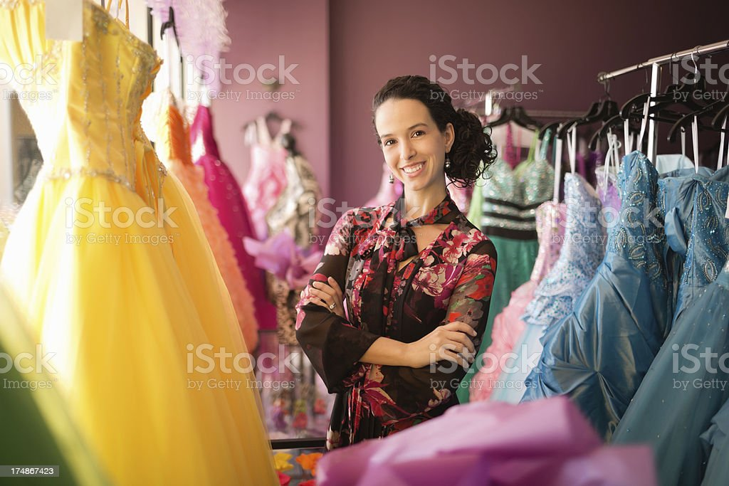 Store Owner Smiling With Arms Crossed royalty-free stock photo