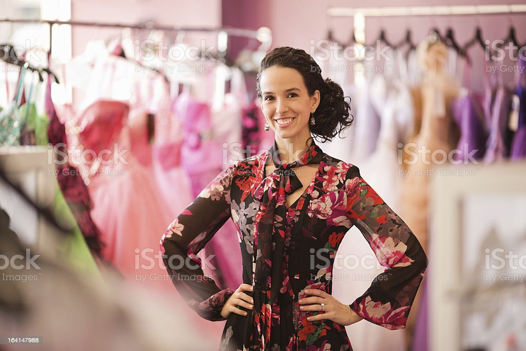 Store Owner Standing With Hand On Hip royalty-free stock photo