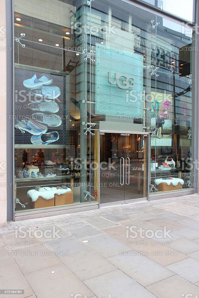 UGG store stock photo