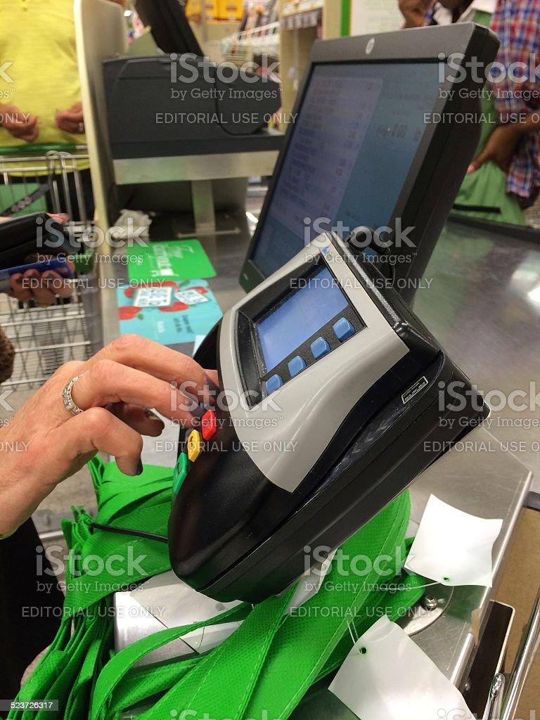 Store purchasing stock photo