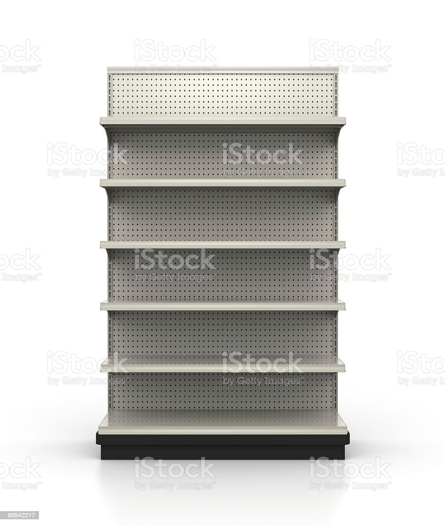 Store Shelves - Retail Environment royalty-free stock photo
