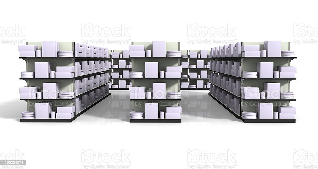 Store Shelves with Product royalty-free stock photo