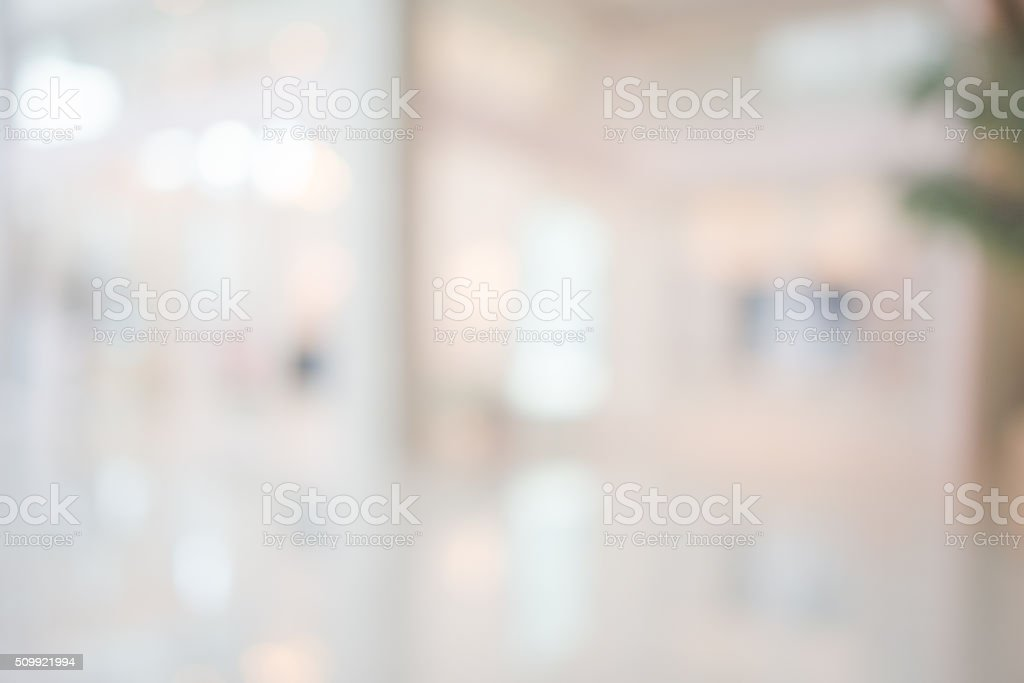 Store, shopping mall abstract defocused blurred background stock photo