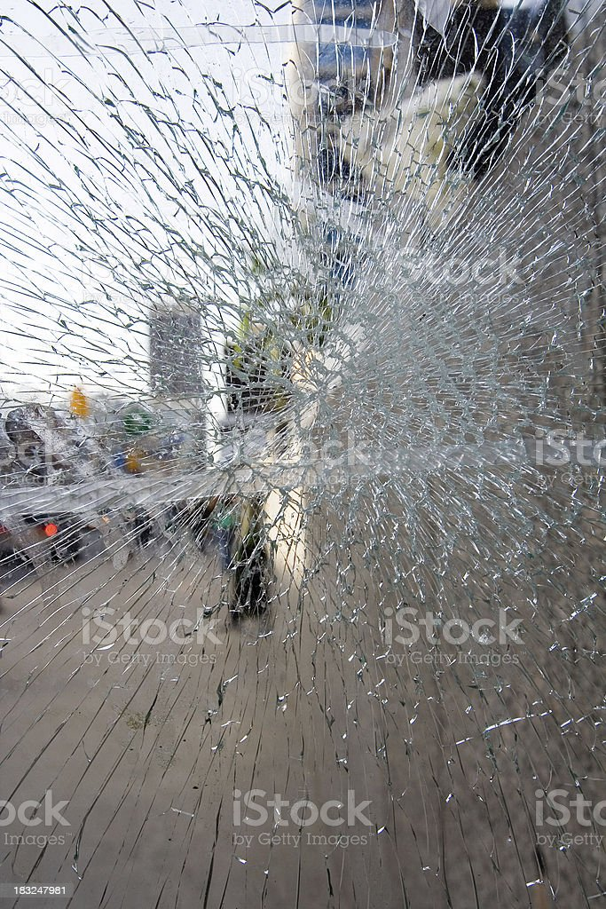 store window broken royalty-free stock photo