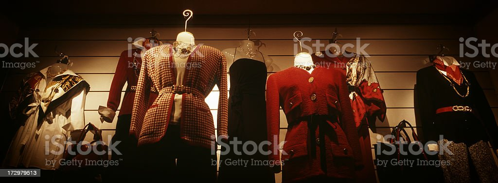 Store window display in the evening royalty-free stock photo