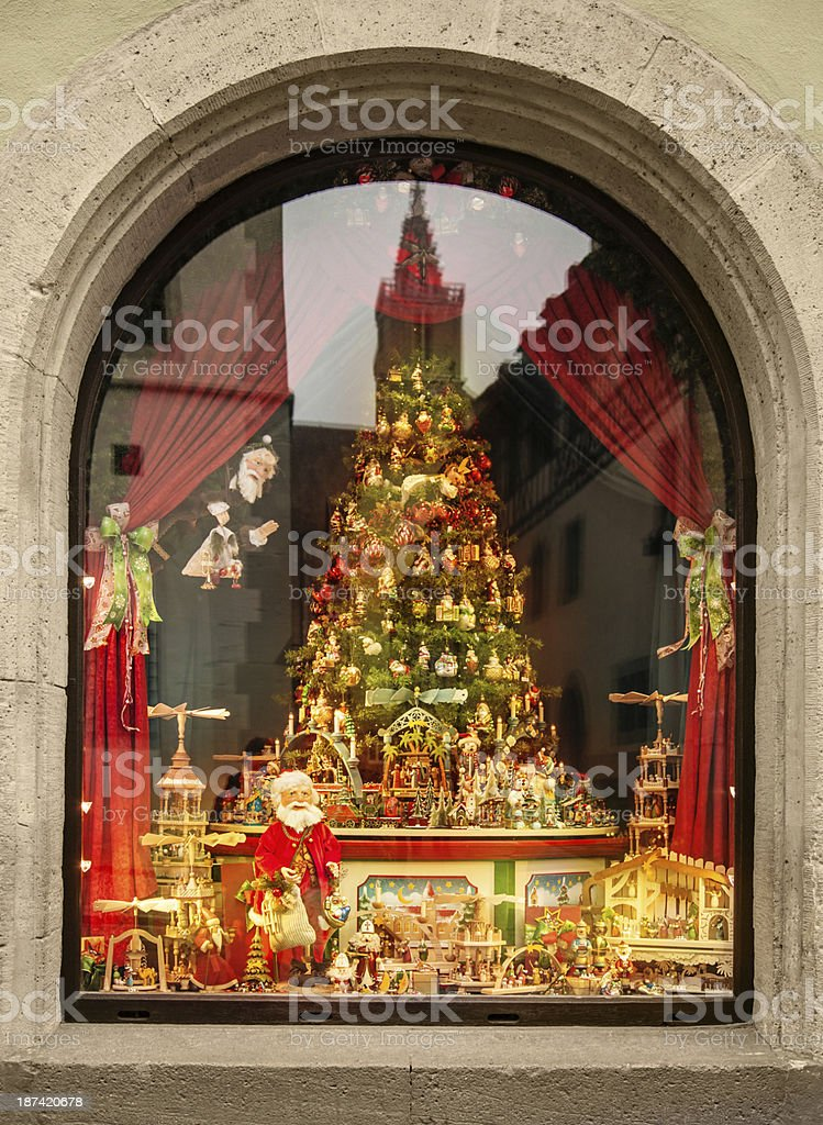 Store window of a christmas shop royalty-free stock photo