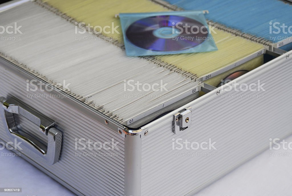 DVD stored in a case royalty-free stock photo