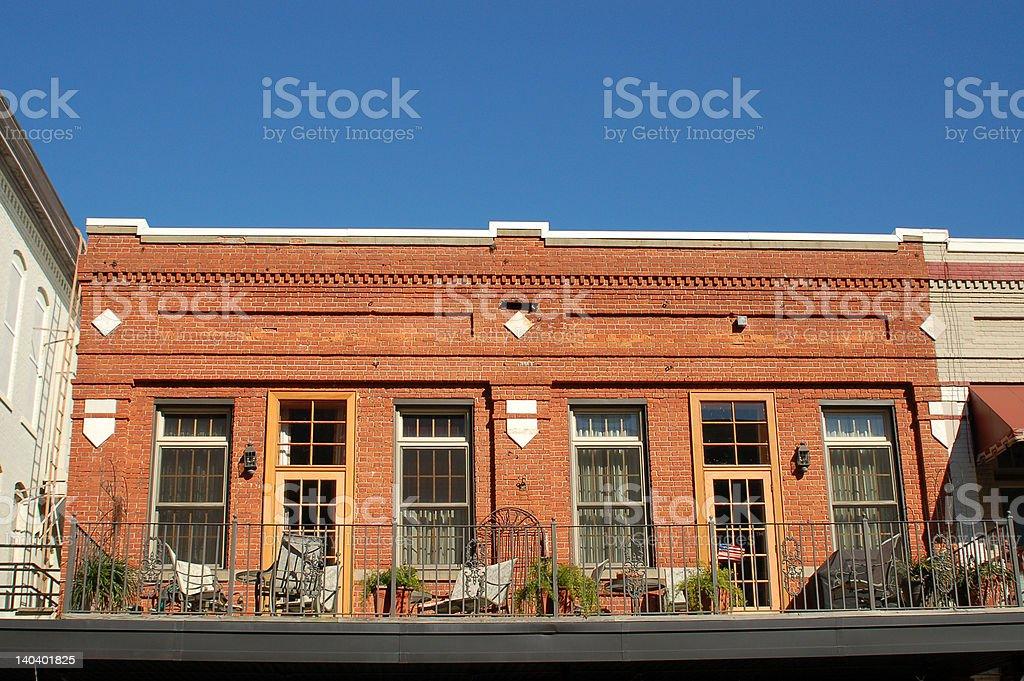 Storefront balcony royalty-free stock photo