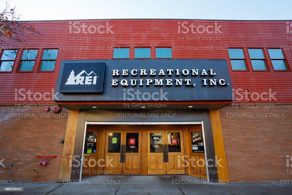 REI Storefront Eugene Oregon stock photo