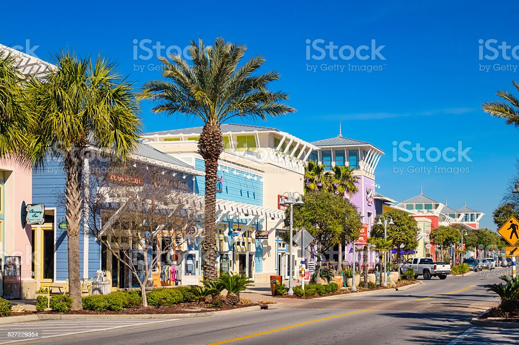 Stores in Panama City Beach Florida USA stock photo