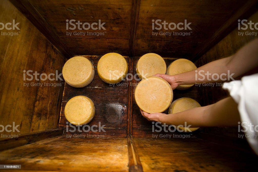 storing pecorino di farindola royalty-free stock photo