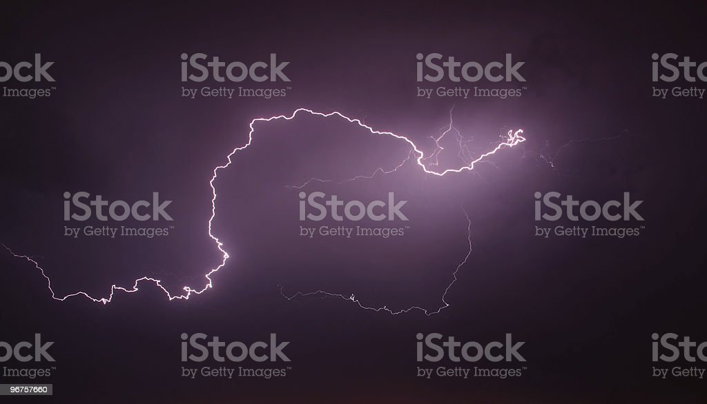 storm and lightning royalty-free stock photo