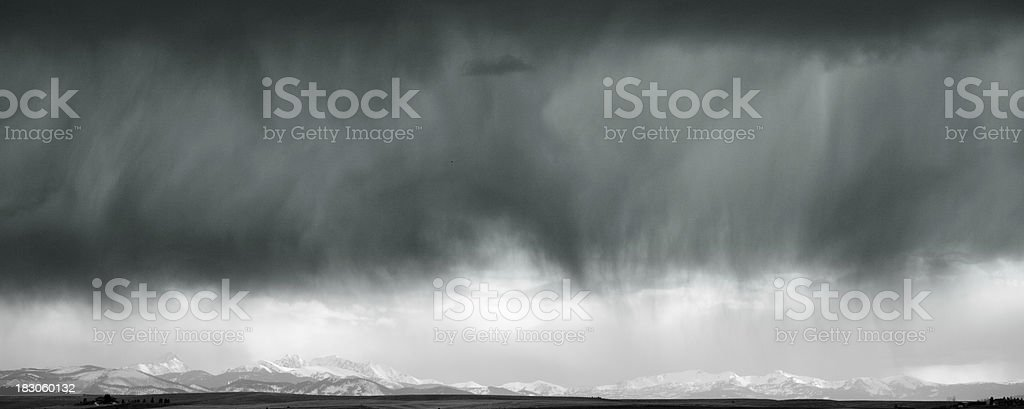Storm and mountains in Montana royalty-free stock photo