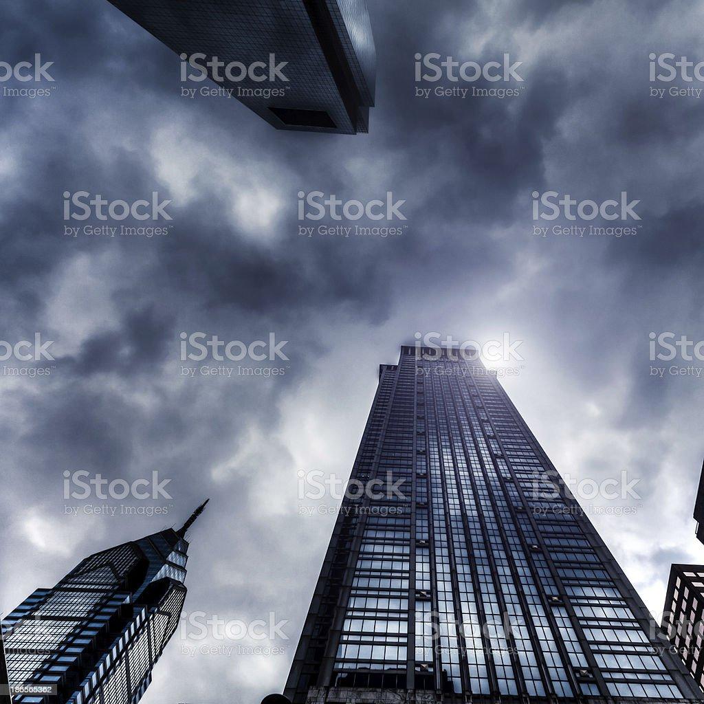 Storm and Skyscrapers, Philadelphia, USA royalty-free stock photo