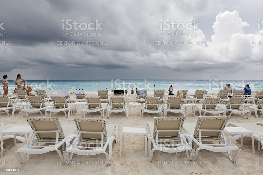 Storm Approaches Cancun royalty-free stock photo