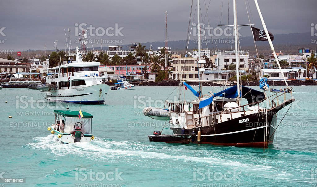 Storm approaches, Santa Cruz, Galapagos stock photo