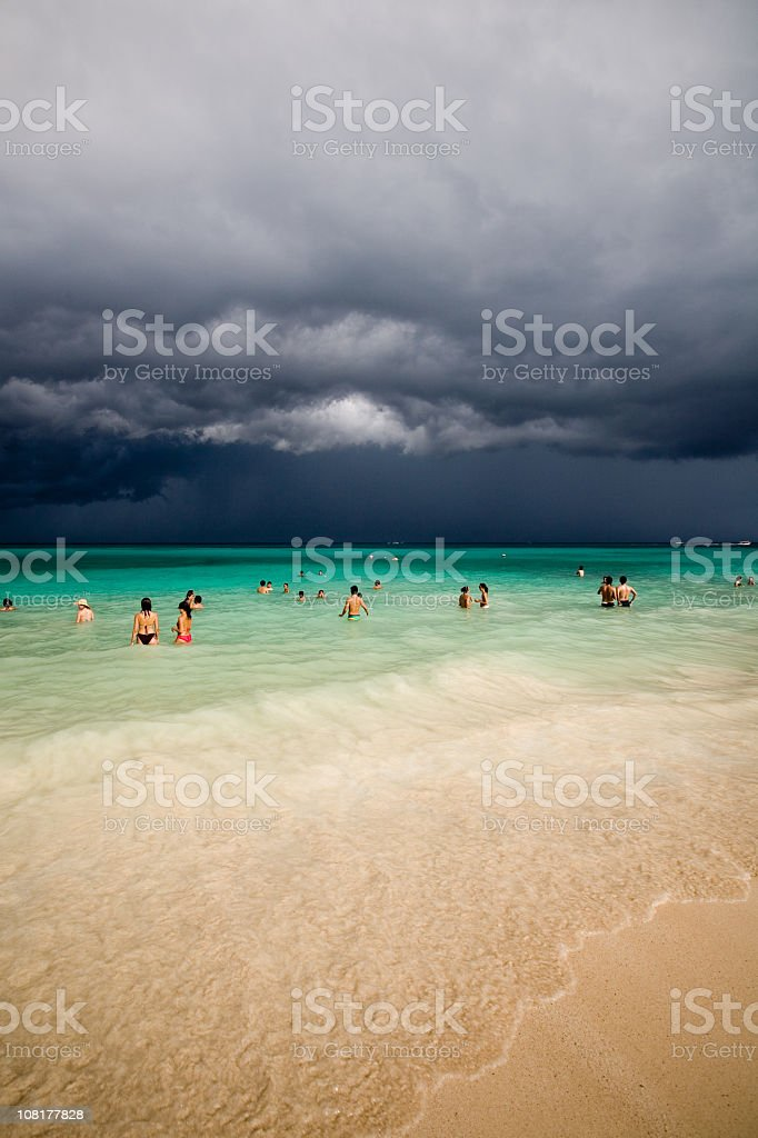 Storm Approaching in Playa del Carmen Mexico royalty-free stock photo